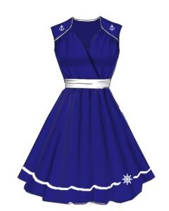 anchor,sailor,pinup,dress