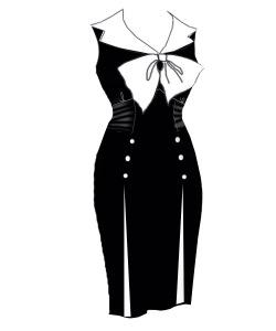 black,nautical,dress