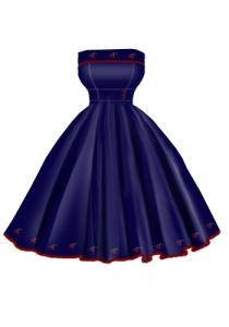 blue,cherry,embroider,dress