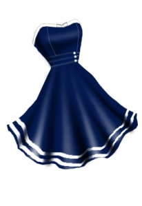 bluenauticaldress236
