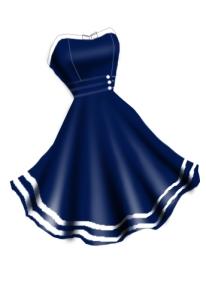 bluenauticaldress236