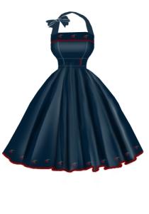 cherry,denim,dress,withstrap