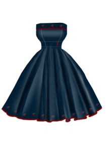 denim,retro,rockabilly,cherry,dress