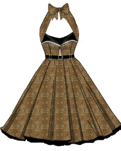 leopard,retro,rockabilly,zipperdress