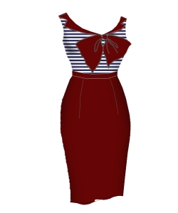 nautical,red,blue,bombshelldress