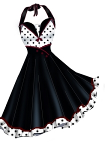 polkadot,retro,rockabilly,red
