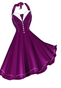 purple,retro,rockabilly,retrodress