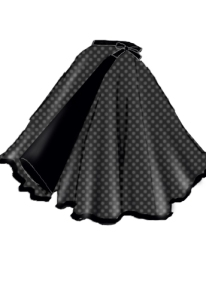 rockabilly,polka dot, skirt,wrap
