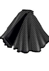 rockabilly,polka dot, skirt,wrap