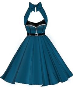 teal,aqua,rockabilly,retro,zipper,dress