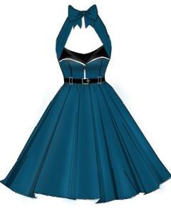 teal,aqua,rockabilly,retro,zipper,dress