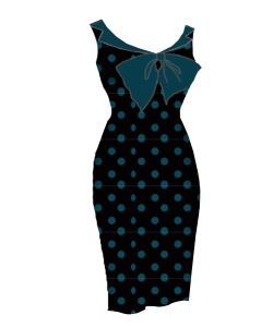teal,polkadot,dress,bombshell