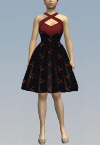 cherry,rockabilly,dress
