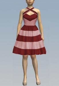 pinkandred,dress