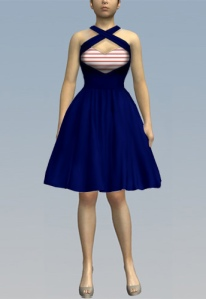redstripe,rockabilly,dress