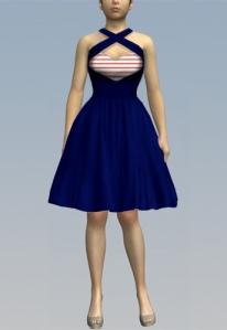 redstripe,rockabilly,dress