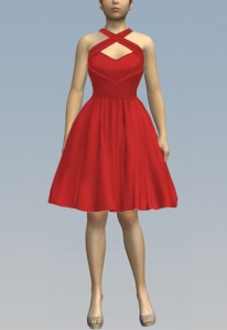 rockabilly,retro,red,dress