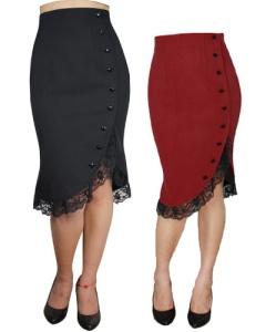 rockabilly,skirt,red,blacka