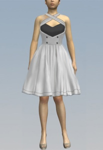 white,rockabilly,dress