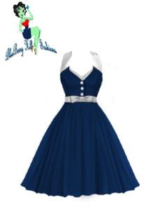 bbh,blue,rockabilly,dress