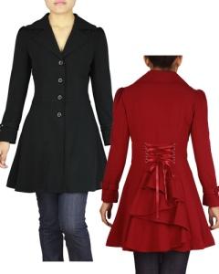 gothic,corset,coat,burgundy