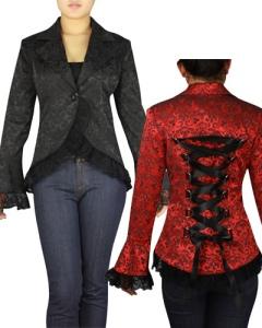 gothic,corset,laced,jacket