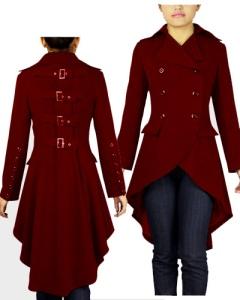 gothic,long,buckle,burgundy