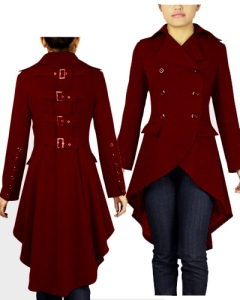gothic,long,buckle,burgundy
