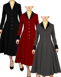 retro,rockabilly,coat,gray,