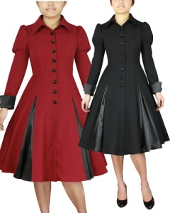rockabilly,coat,black,red