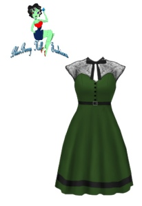 rockabilly,green,retro,vint