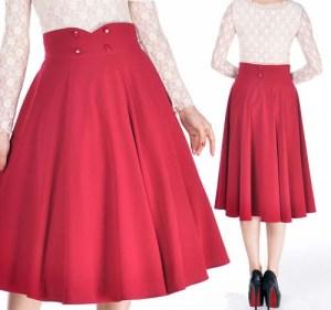 rockabillyskirt-redskirt