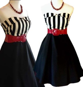 striperetrodress-pinupdress-pinupclothing