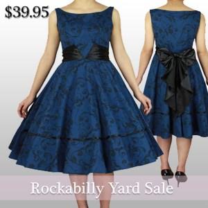 rockabillydress-rockabillyclothing-bluedress-christmasgift