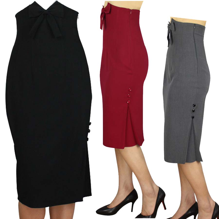 rockabilly pencil skirt new arrival gray black and