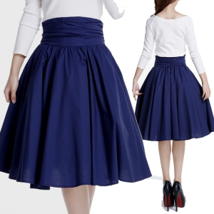 blue skirt - rockabilly skirt - swing skirt