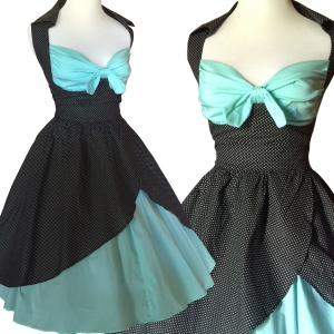 rockabilly-mint green-rockabilly dress