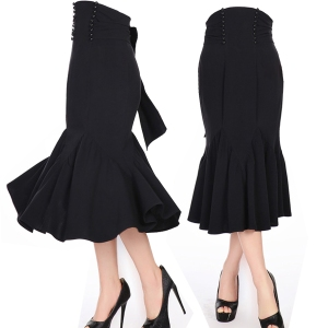 rockabilly skirt, hobble skirt