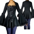 goth top, plus size top