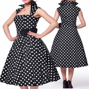 pinuo dress- rockabilly dress- plus size dress- polka dot dress