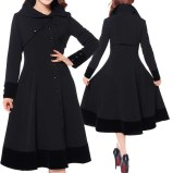 rockabilly-coat-steampunk-coat-goth-coat-velvet coat