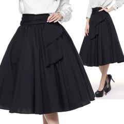 swing skirt- rockabilly skirt- black rockabilly skirt