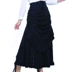 black-steampunk skirt