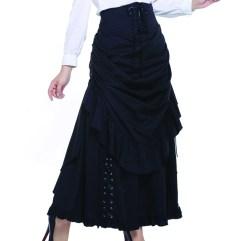 black-steampunk skirt
