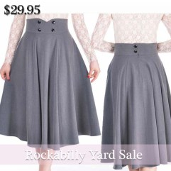 pinup-skirt-gray-skirt-rockabilly-skirt