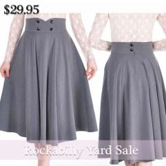 pinup-skirt-gray-skirt-rockabilly-skirt