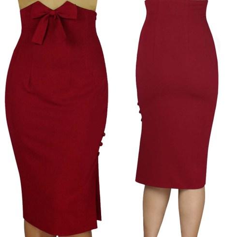 pinupskirt-pinupclothing-redskirt-pencilskirt