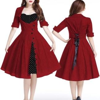 reddress-polkadotdress-pinupdress-vivalasvegasdress