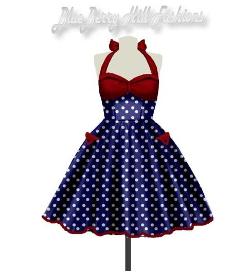 pinup-polkadotdress-blueandred