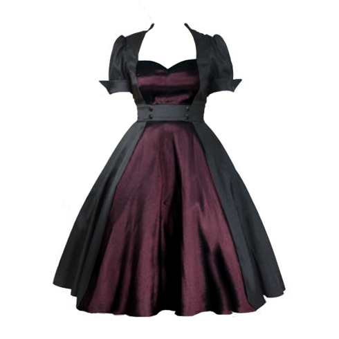 rockabillydress-pinupdress-retrodress-plus size retro dress - plus size pinup dress
